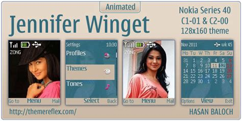 nokia themes zindgi jennifer winget animated theme for nokia c1 01 c2 00