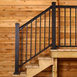 Rail Stair by 100 Series Fixed Stair Railing By Afco Decksdirect Com
