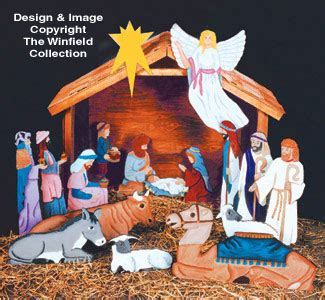 pattern for wood nativity scene nativities angels nativity scene patterns2 3 life size