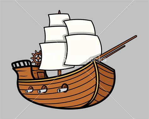 old boat clipart old vikings vintage ship vector cartoon illustration