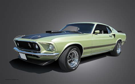 1969 mustang mach 1 fossil cars