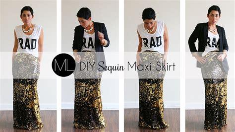 diy sequin maxi skirt tutorial w mimi g