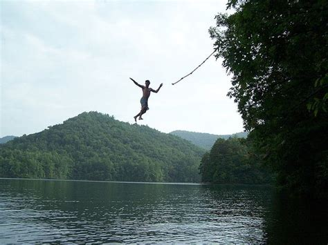 lake rope swing rope swing into a lake to try pinterest
