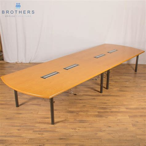Oak Boardroom Table Oak Veneer 4500x1500 Boardroom Table