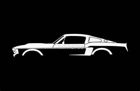 Quot Car Silhouette For 1967 Shelby Mustang Gt500 Eleanor