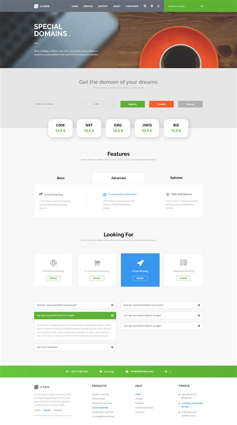 file hosting template x data hosting psd template by whmcsdes themeforest