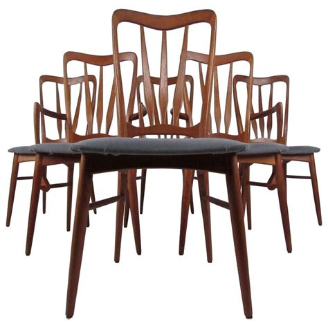 modern teak dining chairs for sale at 1stdibs