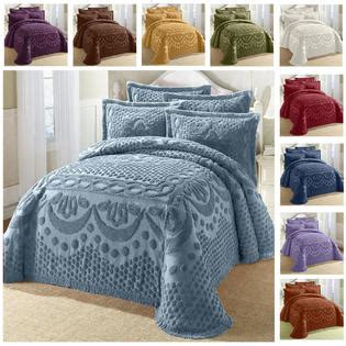 100 cotton chenille bedspread soft blue butterfly pattern greenhome123 100 percent cotton chenille bedspread with