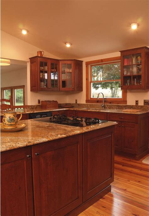 Cherry Kitchen Cabinets Classy And Stylish Rustic Kitchen | log cabin style with modern comforts yes please cabinets