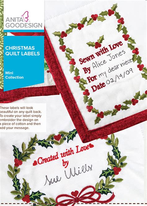 printable christmas quilt labels christmas quilt labels anita goodesign