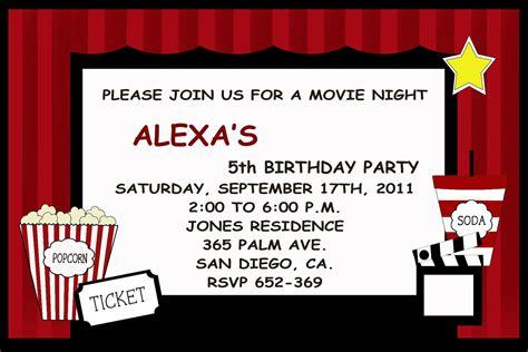 movie invitations templates cloudinvitation com