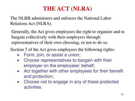 nlra section 7 protected activity ppt introduction to nlrb practice presented by martha