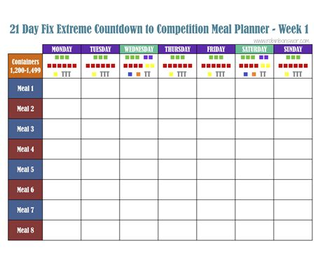 blank meal plan for 21 day fix search results for 21 day fix template calendar 2015