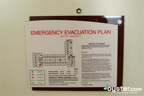Evacuation Floor Plan Template by Emergency Evacuation Plan For The Standard Room At The