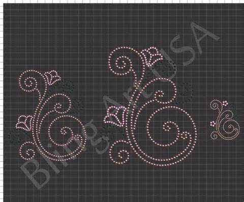swirls rhinestone downloads files templates patterns bling