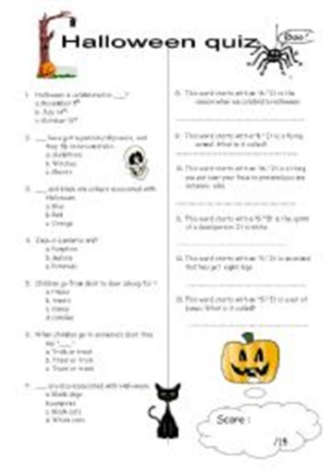 printable free halloween trivia questions and answers english worksheets halloween quiz