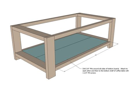 plans for a rustic coffee table furnitureplans