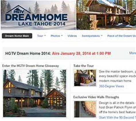 Hgtv Lake House Sweepstakes - hgtv dream home 2014 giveaway