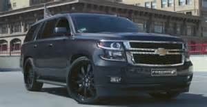 2015 chevrolet tahoe ridin on forgiato wheels in downtown