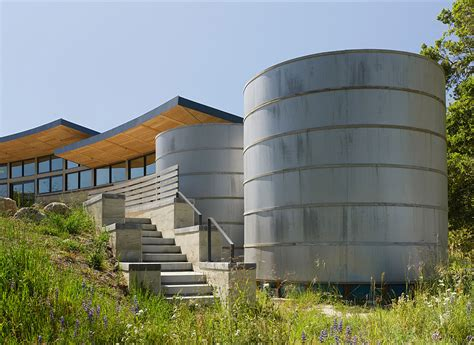 water tank design for house caterpillar house in carmel california by feldman architecture