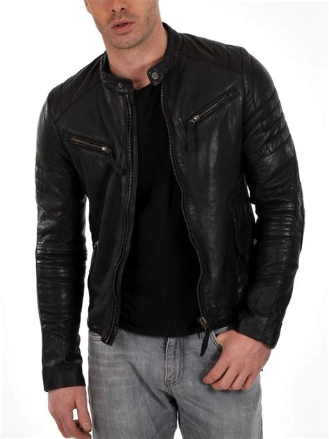 Lc Cuir Leather M stylish mens motorcycle soft lambskin genuine leather biker jackets ehs m 69 ebay