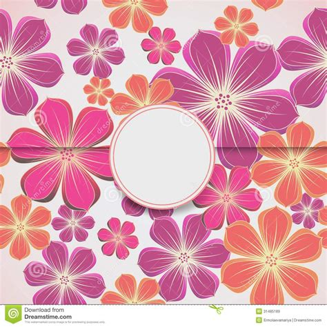 template for flower arrangement card floral greeting card invitation template vector royalty