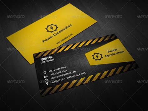 construction business card templates download free best