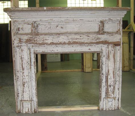 architectural salvage mantle for the home