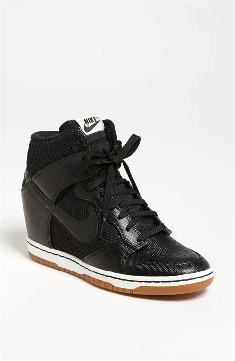 nike wedge sneakers sale nike dunk sky hi wedge sneaker in black black