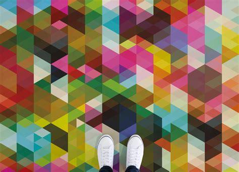Abstract Pattern Vinyl Flooring | pop geometric atrafloor