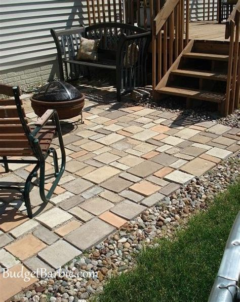 concrete mold patio budget our patio using quikrete walk maker mold to form the patio pavers updated