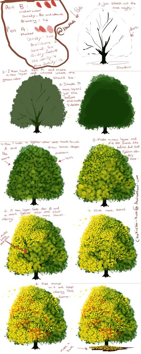 tree drawing tool how to paint a tree digtally by mano k on deviantart