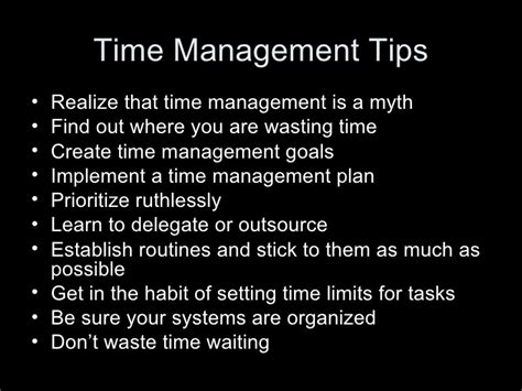 organizational and time management skills