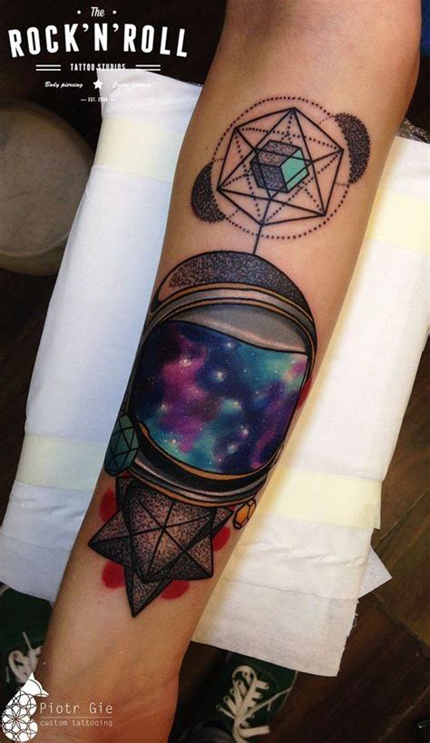 abstract galaxy forearm piece best tattoo design ideas