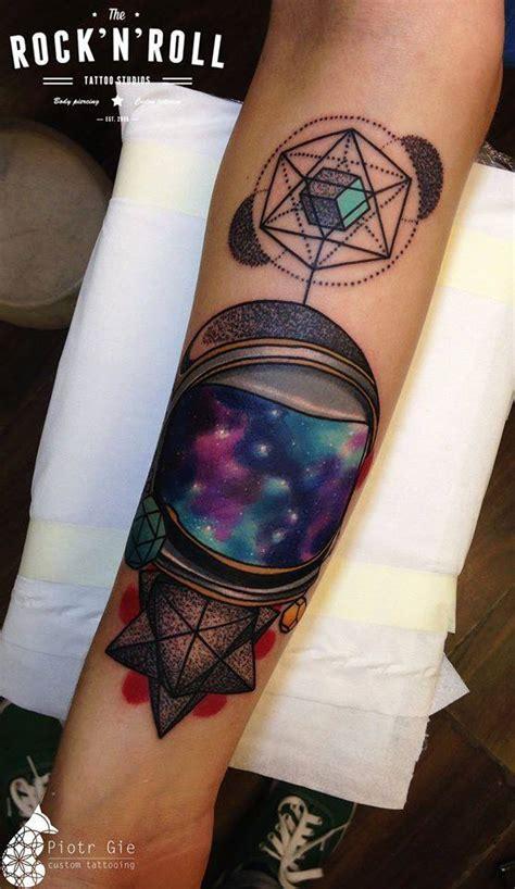 abstract galaxy forearm piece best tattoo design ideas