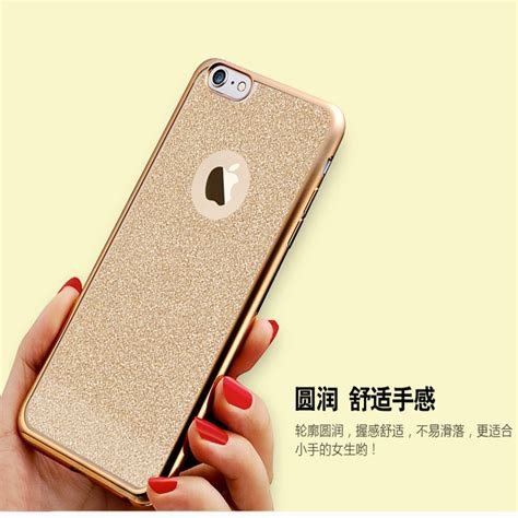 Tpu Softcase Luxury Shining List Chrome Apple Iphone 6 6s luxury back shiny powder cover plating gilded tpu silicon for iphone 7 6 6s 7plus 5 5s se
