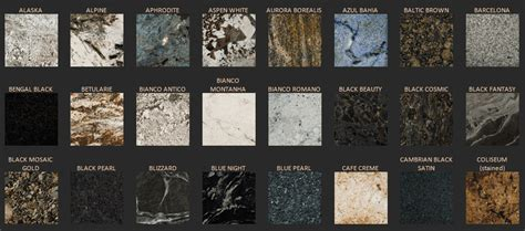 colors of granite countertops granite countertops cost guide for 2018