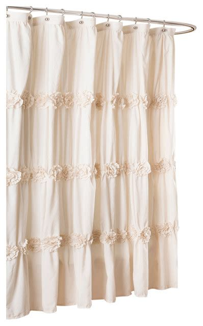 ivory shower curtain darla shower curtain ivory contemporary shower