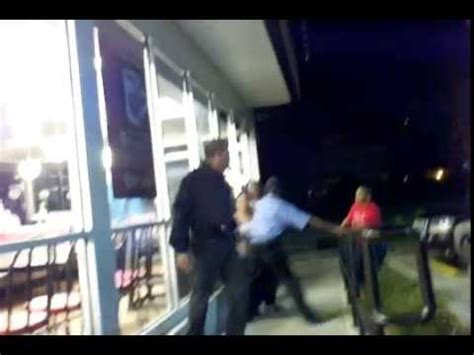waffle house stone ave three females beat up old security guard at waffle house youtube