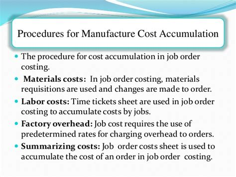 Kelley Direct Mba Course Materials Cost by Complete Cost Accumulation Procedures In Manufacturing