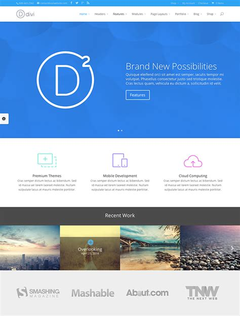 divi theme blog homepage web design trends to look out for in 2015 elegant themes