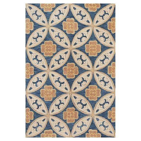 mosaic tile rug kas rugs mosaic tile blue 5 ft x 7 ft 6 in area rug mia21375x76 the home depot