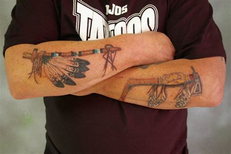weapon tattoos 45 fascinating weapons tattoos collection golfian