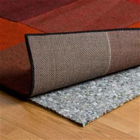 rug to carpet pad trafficmaster 6 ft x 8 ft 5 lb density premium plush rug pad 150553557 68 the home depot