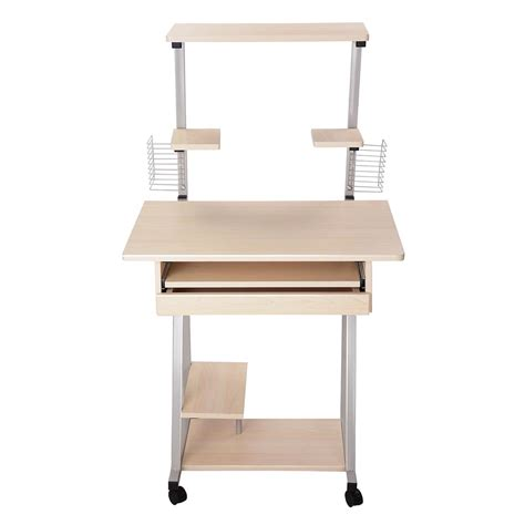 mobile computer desk for home mobile computer desk tower printer shelf laptop rolling