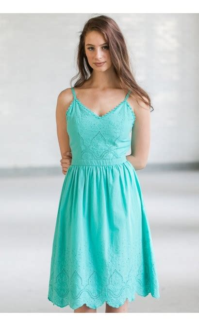 Dress Zipper Blink jade green midi a line dress jade green sundress