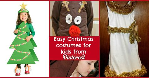 easy christmas costumes for kids from pinterest