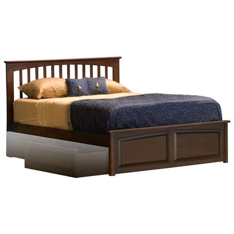 raised platform bed brooklyn platform bed w raised panel footboard dcg stores