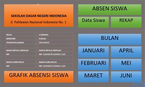 format grafik absensi siswa aplikasi absen kehadiran siswa dengan fitur grafik format