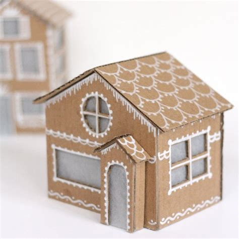 How To Make A Small Paper House - make your adorable gingerbread houses out of